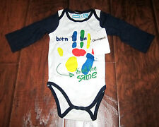 DESIGUAL BODY PIANO LONG SLEEVE ONE PIECE - BOYS 3-6 MONTHS – BLUE & WHITE - NWT