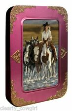 #8576 -- TREE FREE ECO COWGIRL BLANK NOTE CARD SET EMBOSSED GIFT TIN (12) -WOW!