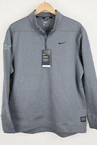 Nike Mens Golf Therma-Fit 1/2 Zip Top Water Repellent 932350-021 NWT Grey sz XL