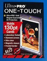130pt One Touch Magnetic - 2 PACK Bundle Set MLB Ultra Pro Baseball Card Holder