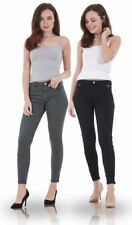 Ladies Motorcycle Super Stretch Pants Biker Skinny Jeans