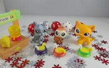Littlest Pet Shop Lemonade Stand Cat 855 Ladybug 856 Boston Terrier Dog 857 Nice