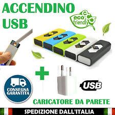 Accendino USB elettronico elettrico ricaricabile Antivento Senza Fiamma NO GAS