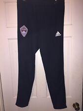 Mens EUC Colorado Rapids Adidas Pants Black zipper bottom sz Large