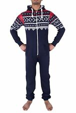 Mens Stylish All in One Jumpsuit One Piece Pyjamas Pajamas Overall