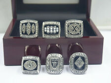 6 Pcs 1967 1976 1980 1983 2002 2014 Oakland Raiders Championship Ring !-