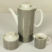 Thomas Medaillon Onyx Tischkern Porzellan Kaffeekanne Milch & Zucker R. Scharrer