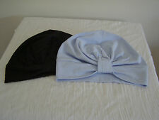2 PACK CHEMO /CANCER /ALOPECIA COTTON KNIT TURBANS, WRAP HAT . CAP FOR HAIR LOSS