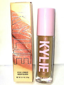 KYLIE JENNER COSMETICS Story Of Us HIGH GLOSS Peach Gold Glitter LIP LIPSTICK