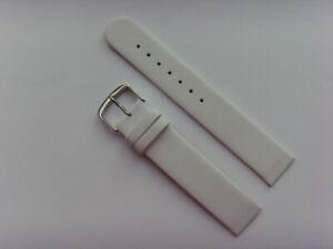 Watch Strap Leather White 18 MM Attachment To Screws Skagen BERING Boccia
