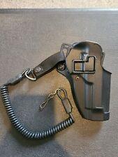 Blackhawk Cqc Holster Right Hand Beretta 9mm #2100298 With Coil Lanyard