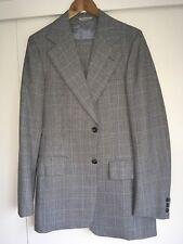 Excellent Quality Vintage Mens Grey Blue plaid 3 piece Suit 40L