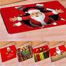 WO_ NE_ EG_ MERRY CHRISTMAS SANTA CLAUS FLOOR MAT DOOR MAT RUG HOME DECOR NON-SL
