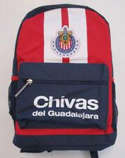 Men's Chivas Guadalajara Backpack, New Solid Red Navy Sport FMF Official Mochila