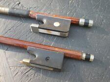 Lot de deux anciens archets pour violoncelle old bow