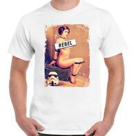 Rebel Star Wars T-Shirt Mens Funny Inspired Pricess Leia Parody Darth Vader