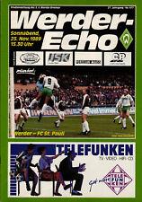 Programm 1991//92 SG Wattenscheid 09 Werder Bremen