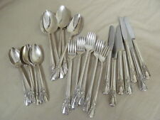 1940 Cabin aka Avalon Wm Rogers Flatware Set 7 Knives 14 Forks 9 Tsp 6 Serving