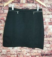 H&M Black Textured Mini Skirt Size 8