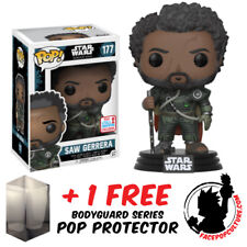 Funko Pop Star Wars Rogue 1 Saw Gerrera Nycc 2017 Exclusive + Free Pop Protector