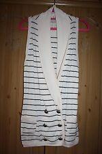 L'ART River Island gilet waistcoat topbuttons racer back style cream size  8