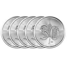 5 x 1 oz Silber 30 Jahre Maple Leaf 2018 - Kanada Silbermünze 999,9 Jubiläum