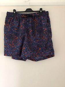 Nike acg Swim Shorts XL Belt & Elasticated Waist Multicoloured Zipped Pocket Men