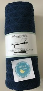 One Peacock Alley Chaise Lounge Chair Cover Navy Blue Turkish Cotton