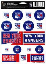 "(HCW) New York Rangers Vinyl Sticker Sheet 5""x7"" Decals NHL Licensed Authentic"