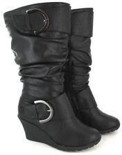 Botas de mujer sin marca color principal negro de ante