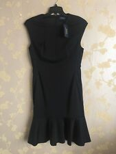 Ralph Lauren Women's Black Flare Dress Cap Sleeve Size:8UK BNWT