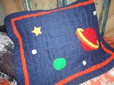 ZHENG ZHANG SOLAR SYSTEM SPACE QUILTED (1) STANDARD PILLOW SHAMS RED BLUE STAR