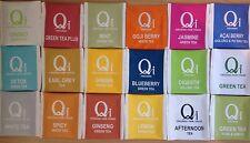 Qi Tea 18 Enveloped Organic Assorted Different Flavoured Mixed Tea Bag Sachets
