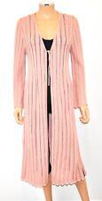 ALPACA INTERNATIONAL Pink Peruvian Mercerized Pima Cotton Long Duster Sweater Sm
