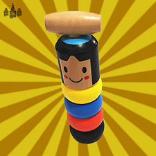 The Mr. Immortal Toy Traditional Japanese Toy! The Wooden Stubborn Toy