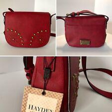 Womens Handbag Purse Satchel Crossbody Shoulder Bag Hayden-Harnett Red