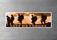 Lest we forget Anzac sticker 7 yr water & fade proof vinyl army navy air force