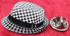 Ska Trilby Mod Mods Lapel Hat Tie Pin Badge Reggae Two Tone Pork Pie Hat