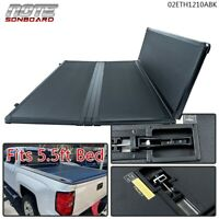 Solid Hard Tri-Fold Tonneau Cover for 2015-2018 Ford F-150 5.5FT Short Bed Cover