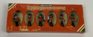 William Britain Metal Toy Soldiers Scots Guards Band Figures #7241 NEW OS