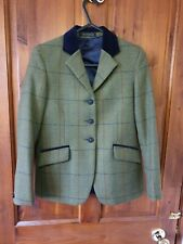 "Pytchley Green tweed show/ hunter child's 28"" jacket lovely condition fox button"