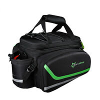 RockBros Bike MTB Rear Carrier Bag Cycling Bicycle Rear Pack Pannier Bag Black