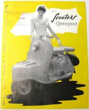 PEUGEOT Scooter 125cc 150cc 1956 #6653-5M 11.56 Original Scooter Sales Brochure