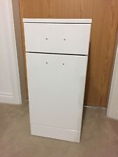 350 x 300 Classic Bathroom Cloakroom Gloss White Vanity Laundry Unit and Basket