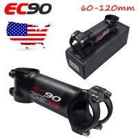 US STOCK 6/17° 60-120mm 28.6*31.8 Threadless Handlebar MTB Bike Bicycle Bar Stem