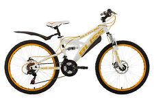 """24"""" Children's Mountain Bike Full Suspension """"BLISS"""" White-Yellow 18 Speed 641K"""