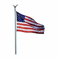 Us Usa American Flag Aluminum Flagpole Pole Commercial Home 20 ft 3x5 Large Kit