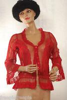 chemisier rouge dentelles JACQUELINE RIU  taille 1 ref 121553