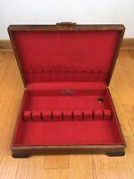 Vintage Rogers & Son Silverware Flatware Wooden Anti-Tarnish Storage Chest Box