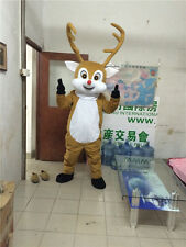 New Xmas Reindeer Adult Sz Mascot Costume advertising festival fancy party dress